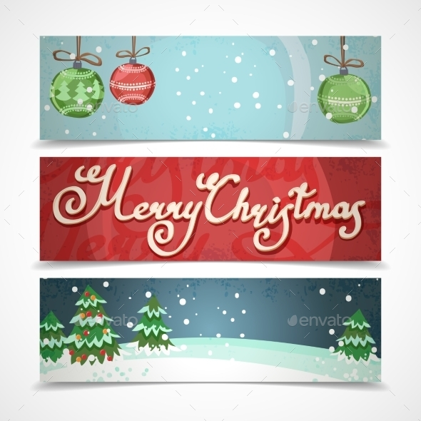 GraphicRiver Horizontal Christmas Banners 9256312