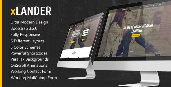 ThemeForest xLander Premium Landing Page Template 9256425