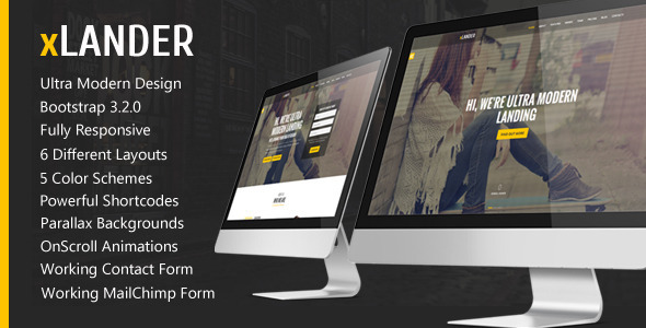 xLander Premium Landing Page Template