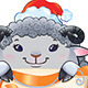 Lamb with Scroll - Symbol of Chinese Horoscope - GraphicRiver Item for Sale