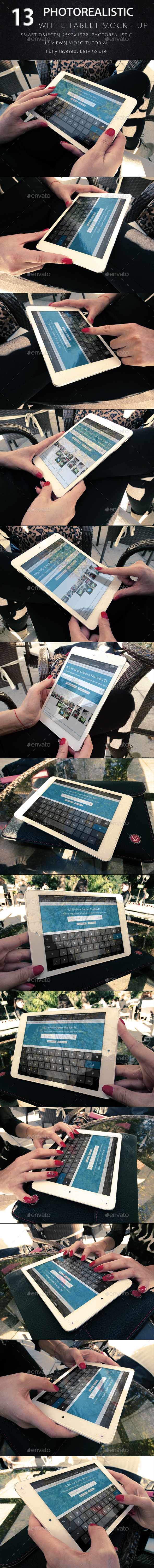 GraphicRiver Photorealistic Tablet With Female Hands Mock-Up V2 9256656