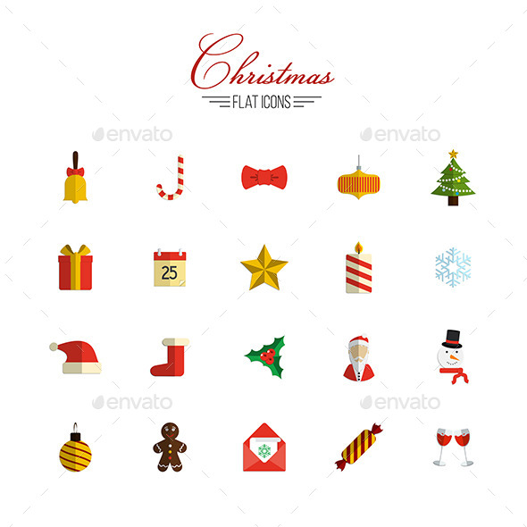 GraphicRiver Christmas Icons Set 9256657
