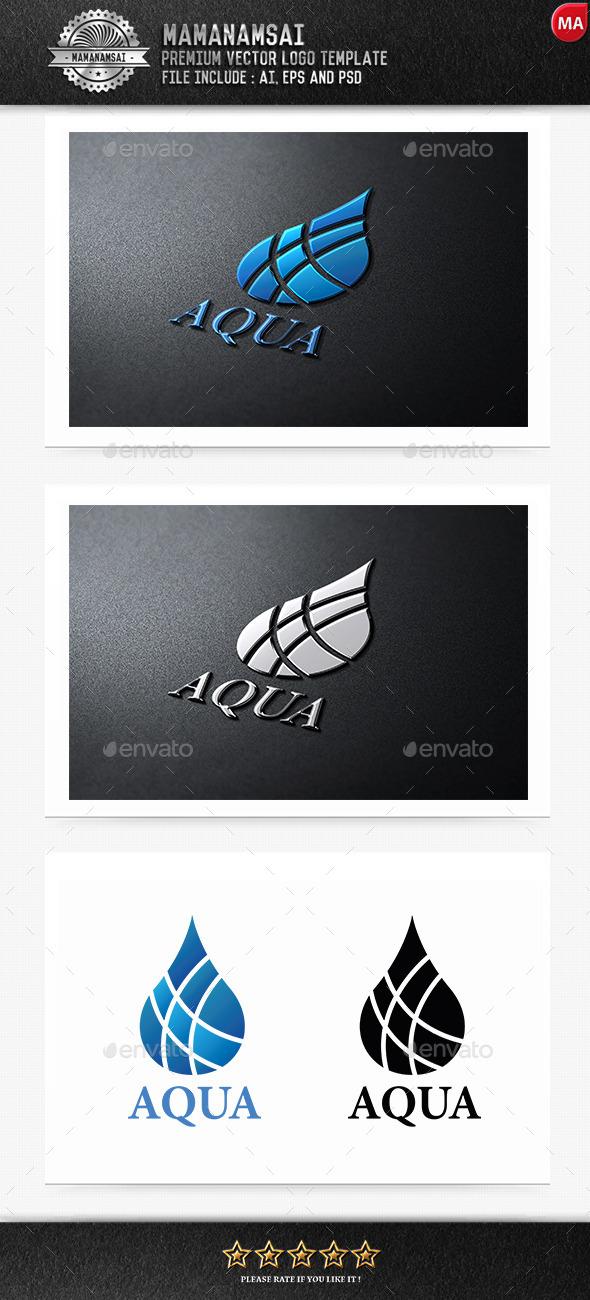 GraphicRiver Aqua Logo 9256839