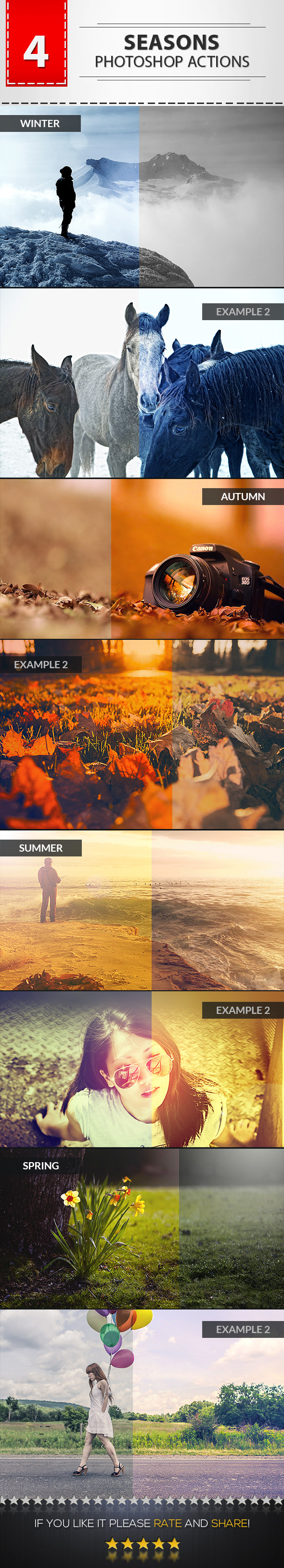 GraphicRiver 4 Seasons Photoshop Actions 9256876