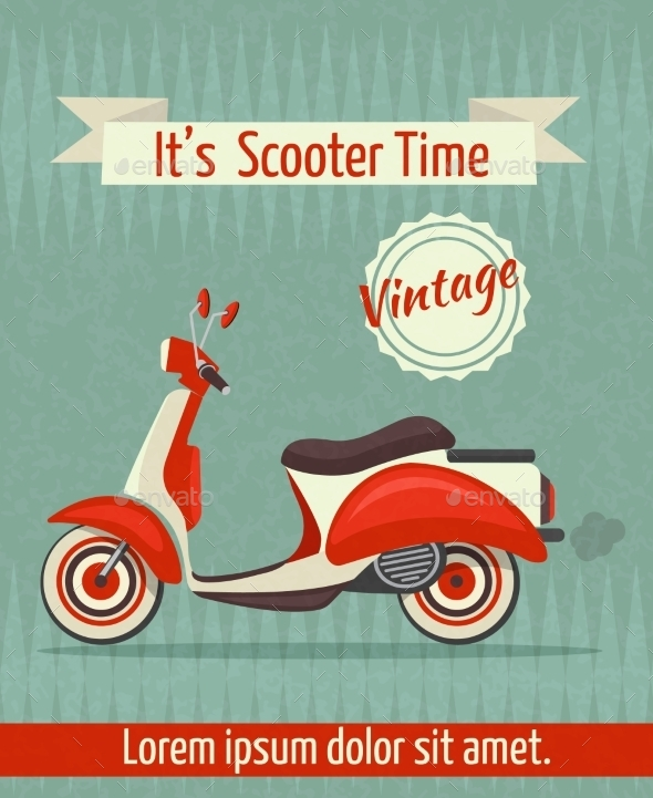 Scooter Retro Poster