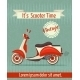 Scooter Retro Poster - GraphicRiver Item for Sale