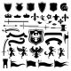 Heraldic set black - GraphicRiver Item for Sale