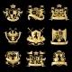 Heraldic Golden Emblems - GraphicRiver Item for Sale