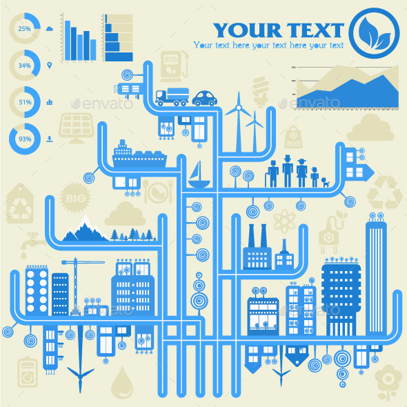 GraphicRiver Eco City Infographics 9152975