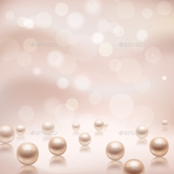 GraphicRiver Luxury Pearls Background 9257124