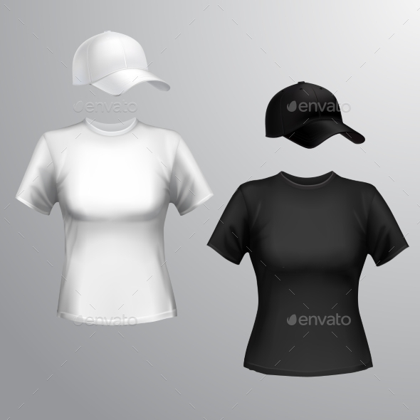 GraphicRiver Women T-shirt Baseball Cap 9257139