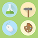 Work & Hobby Icon Set