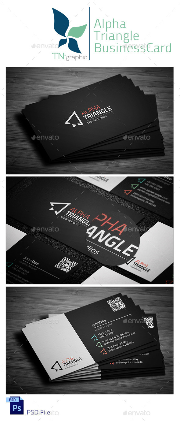 GraphicRiver AlphaTriangle BusinessCard 9257160