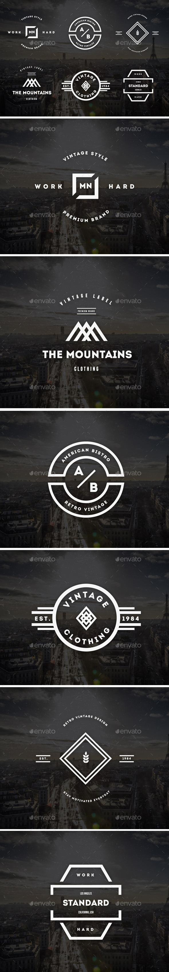 GraphicRiver Vintage Labels & Badges Logos V22 9257168