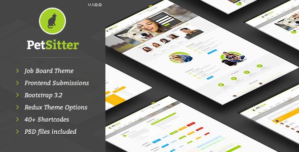 ThemeForest PetSitter Job Board Responsive WordPress Theme 9206865