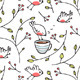 Birds and Cup of Tea Romantic Background - GraphicRiver Item for Sale