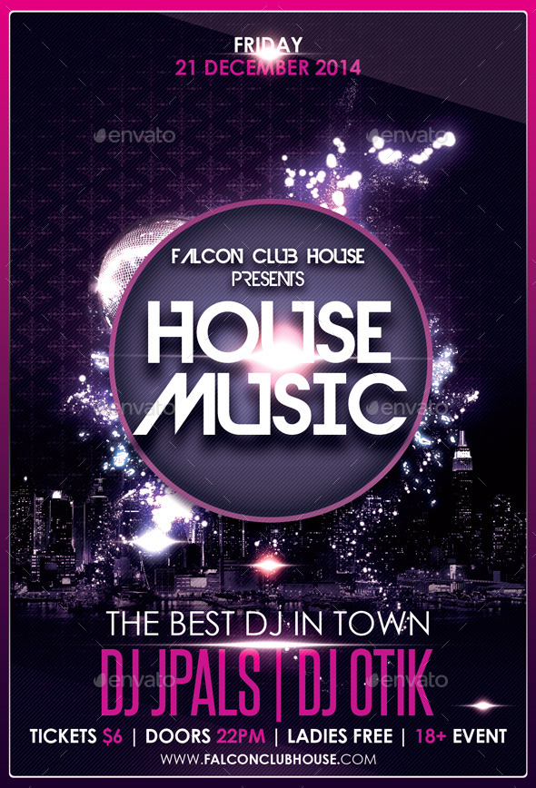 House music party flyer by falconlabdesigns graphicriver for House music party
