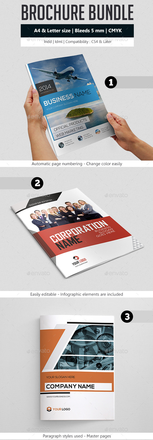GraphicRiver Business Brochure Template Bundle 9257372