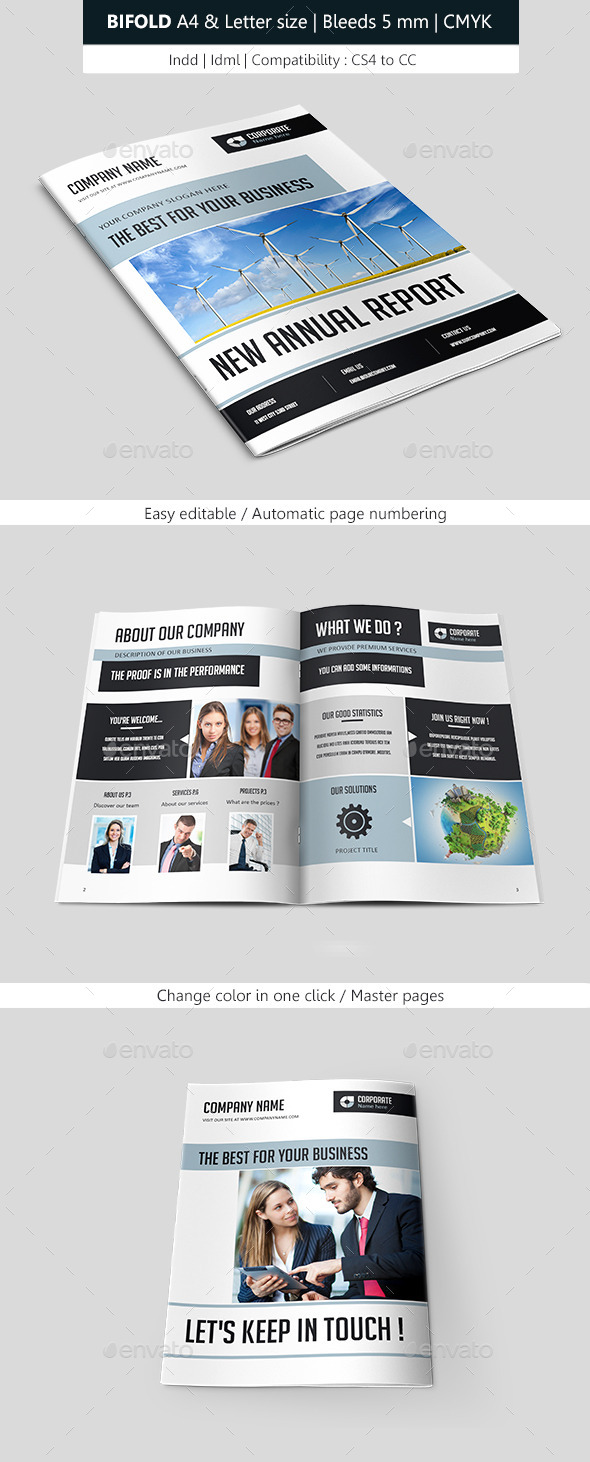 GraphicRiver Bifold Business Brochure Template 9257392