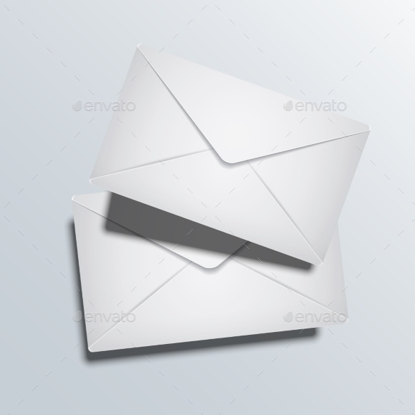GraphicRiver Vector Modern Two Envelope on Gray Background 9257409