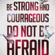 Be Strong and Courageous Church Flyer - GraphicRiver Item for Sale