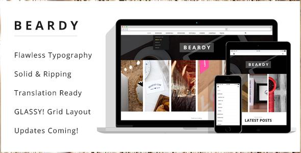 ThemeForest Beardy Responsive Personal WordPress Blog Theme 9177895