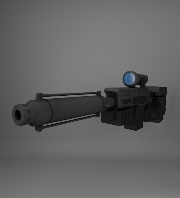 Sci Fi Rifle - 3DOcean Item for Sale