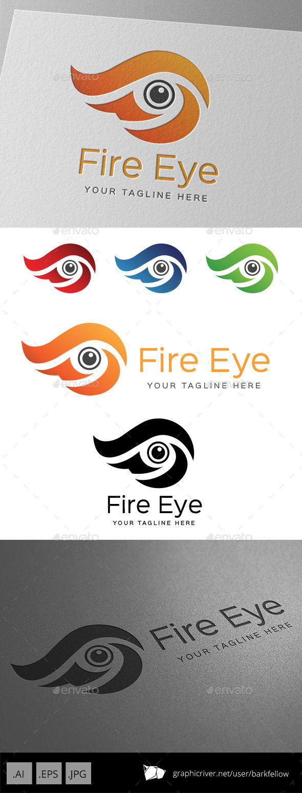 GraphicRiver Fire Eye Logo 9257944