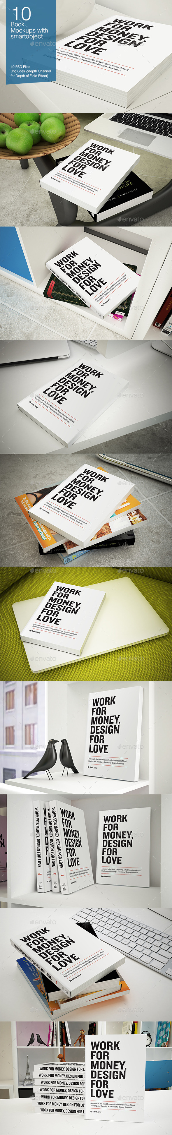 GraphicRiver Book Mockup 10 poses 9257957