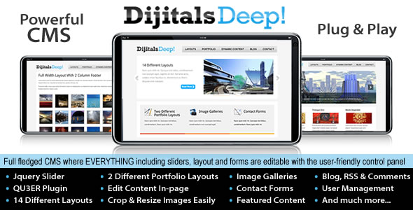 Deep Business & Portfolio CMS