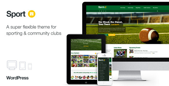 ThemeForest Sport WordPress Club Theme 9258218