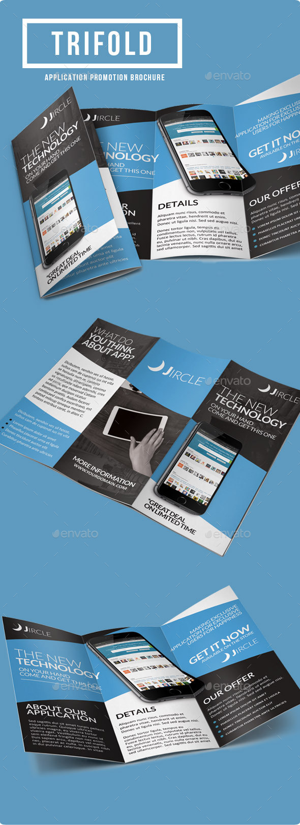 GraphicRiver App Promotion Trifold Brochure 9258240