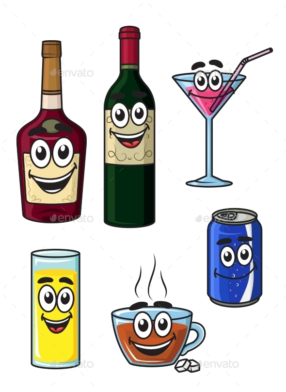 GraphicRiver Beverages Cartoons 9258331