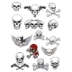 Vector Skull Characters with Crossbones - GraphicRiver Item for Sale