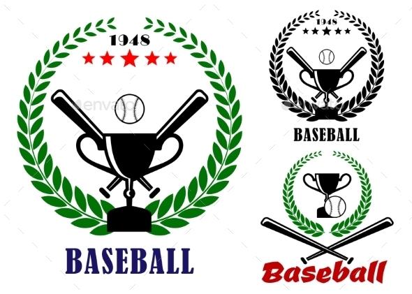 GraphicRiver Baseball Badges or Emblems 9258375