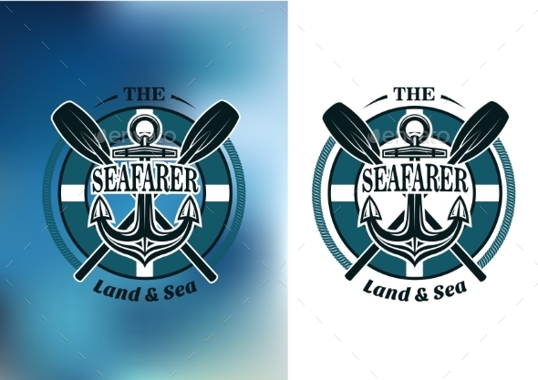 GraphicRiver Seafarer Badges with Crossed Oars 9258454