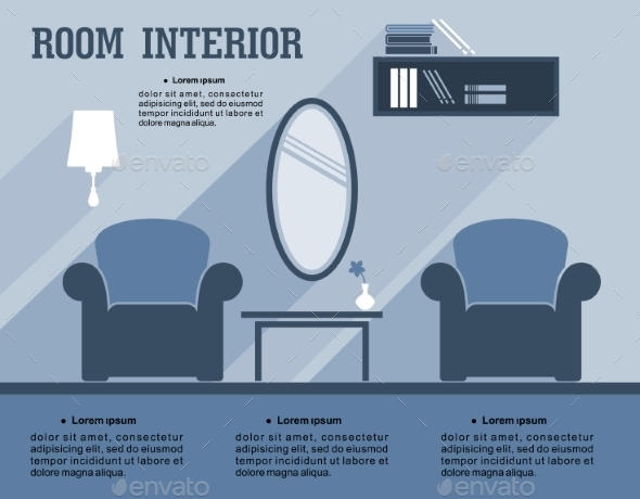 GraphicRiver Room Interior Infographic Template 9258457