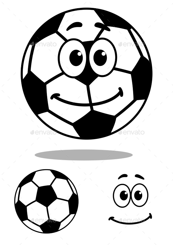 GraphicRiver Cartoon Football 9258463
