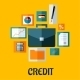 Credit Concept in Flat Style - GraphicRiver Item for Sale