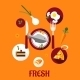 Fresh Food Flat Design - GraphicRiver Item for Sale