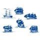 Blue Ships or Sailing Ships - GraphicRiver Item for Sale