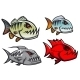 Cartoon Piranha Fish  - GraphicRiver Item for Sale