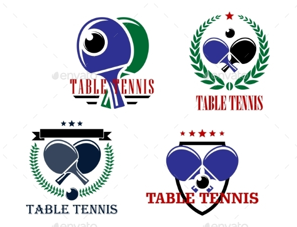 GraphicRiver Table Tennis Emblems 9258490
