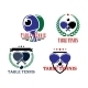 Table Tennis Emblems - GraphicRiver Item for Sale