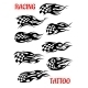 Set of Motor Racing Vector Tattoos - GraphicRiver Item for Sale