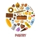 Pastry Flat Vector Icons - GraphicRiver Item for Sale