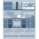 Kitchen Interior Flat Design - GraphicRiver Item for Sale