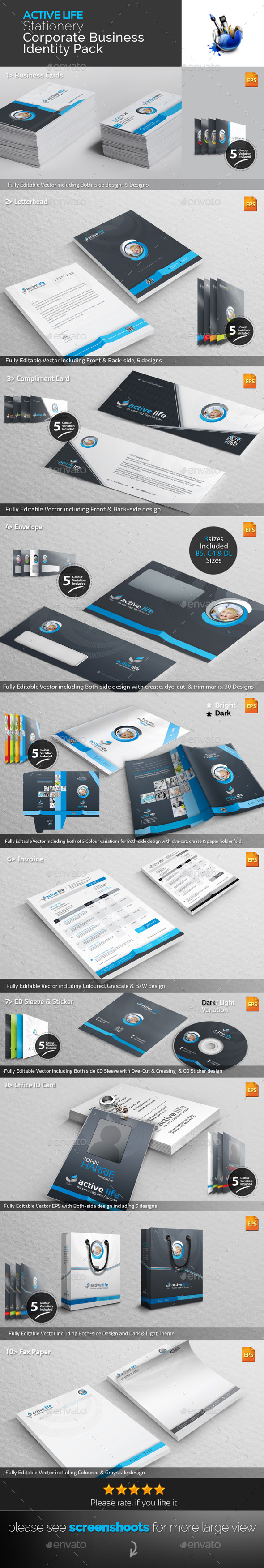 GraphicRiver Stationery Corporate Business Identity Pack 9258517