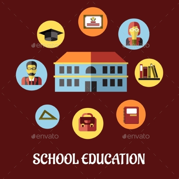 GraphicRiver School Education Flat Design 9258520