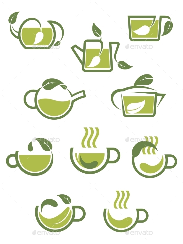 GraphicRiver Herbal Tea Icons 9258537